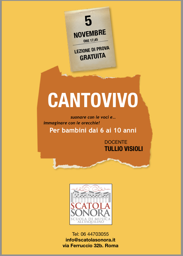 Read more about the article CANTOVIVO