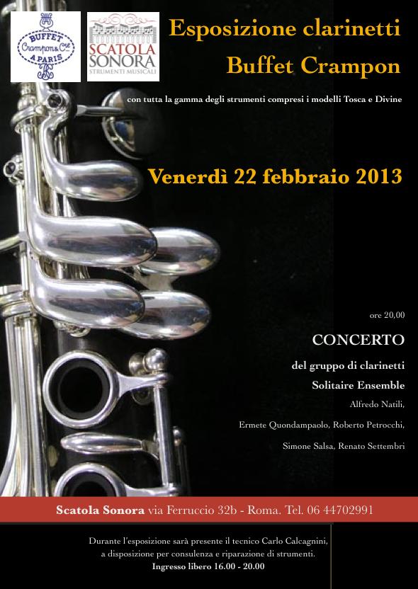 Esposizione e concerto 22 febbraio 2013