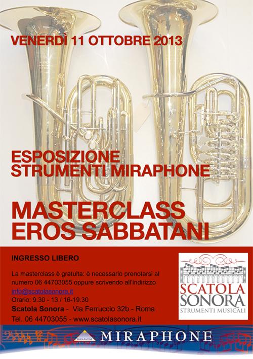 Masterclass EROS SABBATANI Esposizione strumenti MIRAPHONE