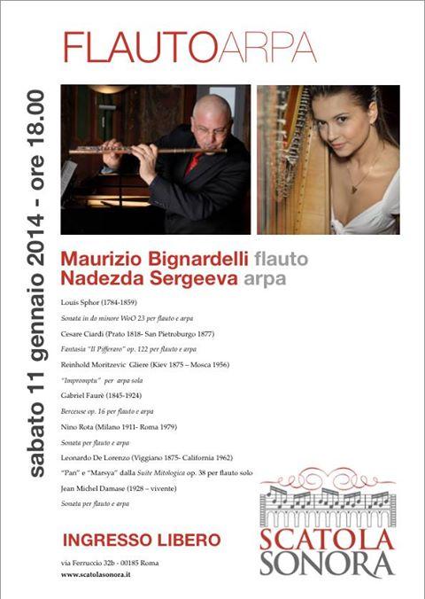 Concerto 11 gennaio FlautoArpa: ingresso libero su prenotazione
