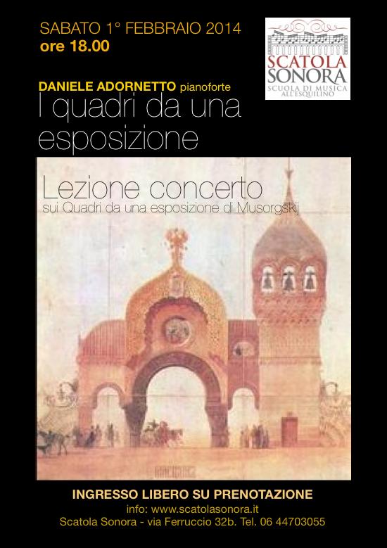 """Lezione-concerto su """"I quadri da una esposizione"""" di Modest Musorgskij INGRESSO LIBERO SU PRENOTAZIONE"""