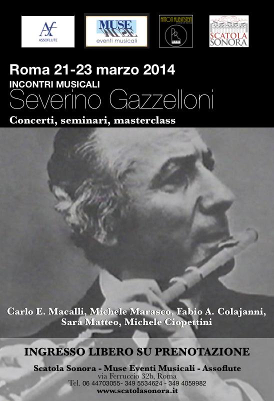 """Incontri musicali """"Severino Gazzelloni"""", Roma 21-23 marzo 2014"""