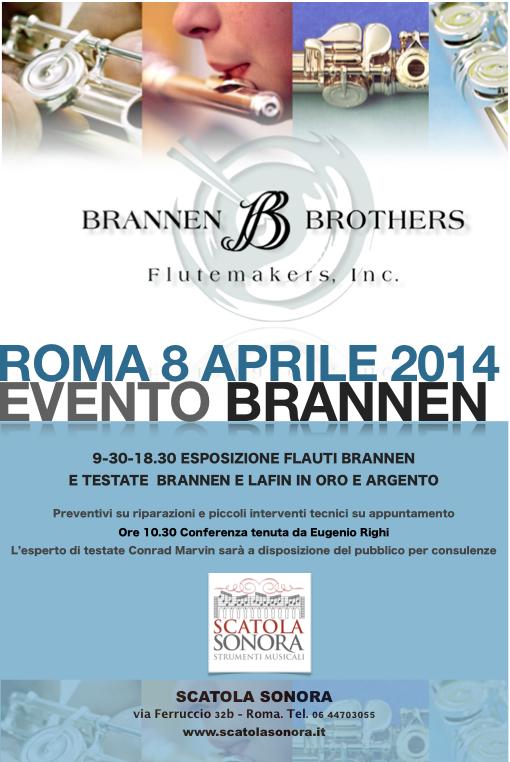 Roma, 8 aprile 2014: Evento Brannen – ingresso libero
