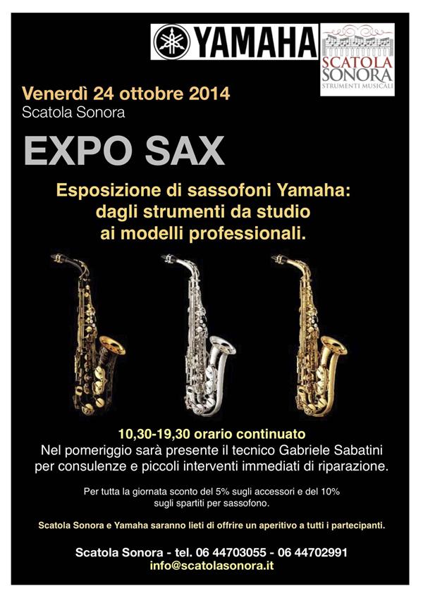 Expo sax Yamaha – 24 ottobre INGRESSO LIBERO