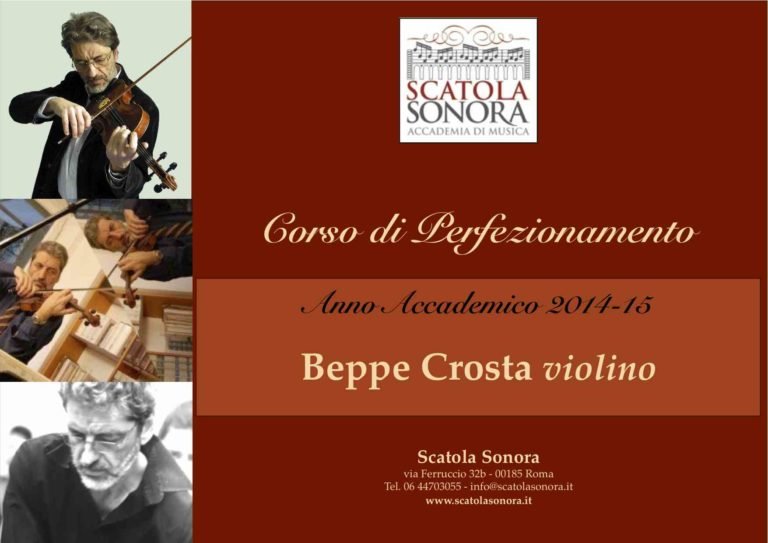 Corso di violino: Beppe Crosta