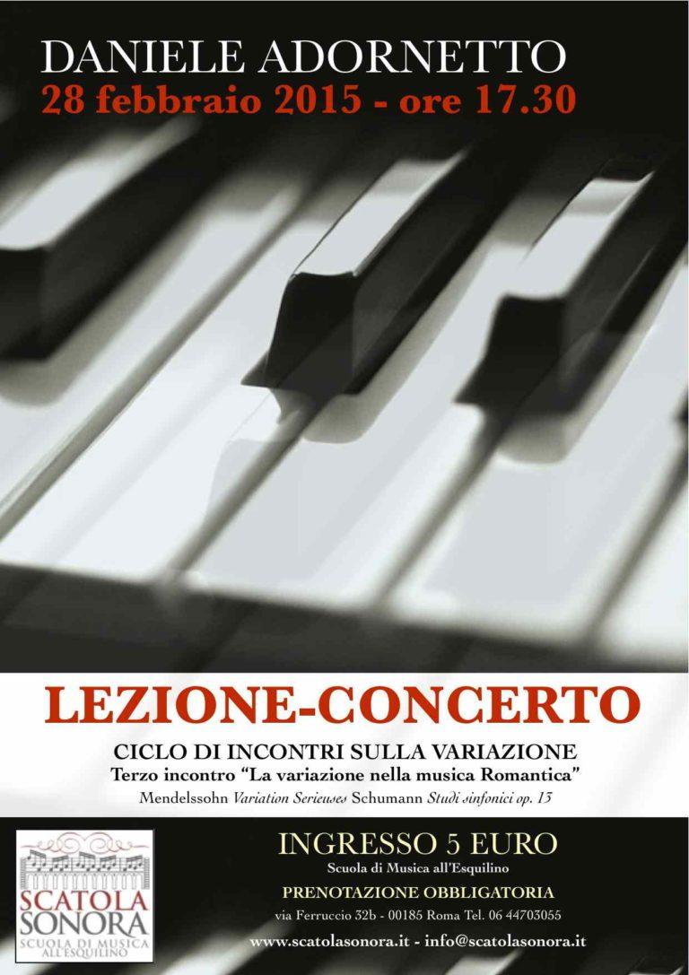 Lezione-Concerto 28 febbraio