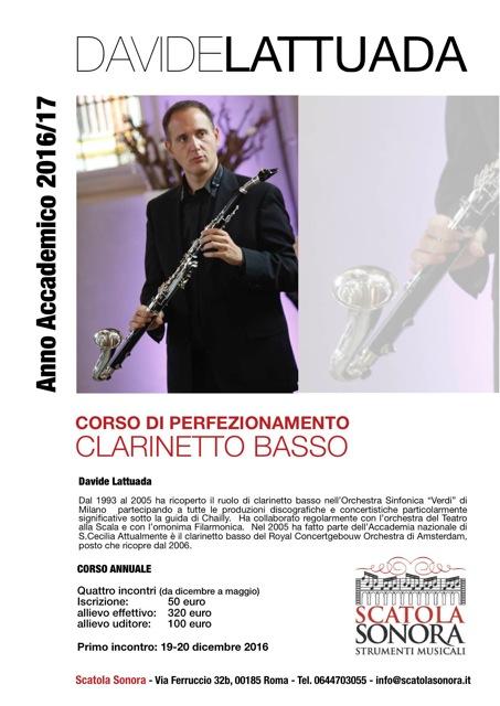 Read more about the article LATTUADA – CORSO DI PERFEZIONAMENTO CLARINETTO BASSO 19-20 Dicembre