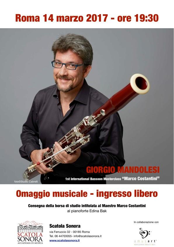 OMAGGIO MUSICALE – INGRESSO LIBERO 14 marzo 2017