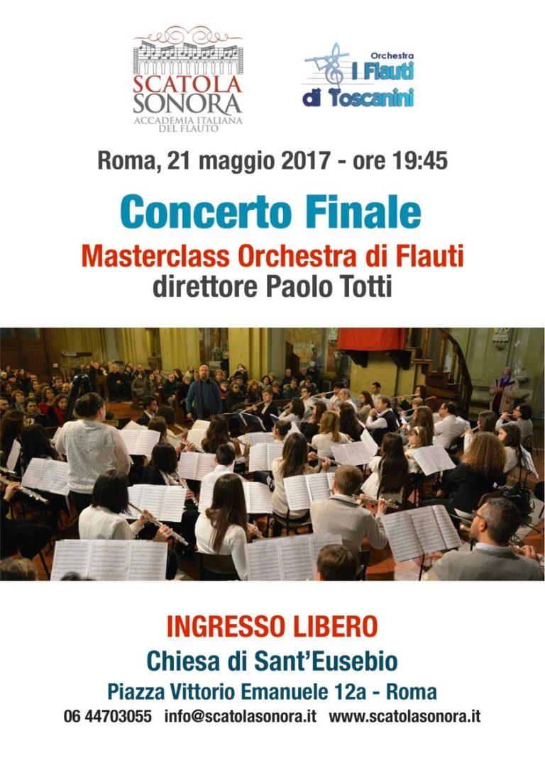 CONCERTO FINALE Masterclass Orchestra di Flauti – Ingresso libero