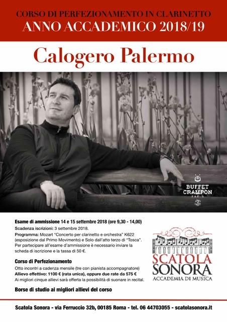 Calogero Palermo – CORSO DI PERFEZIONAMENTO IN CLARINETTO – 2018/19