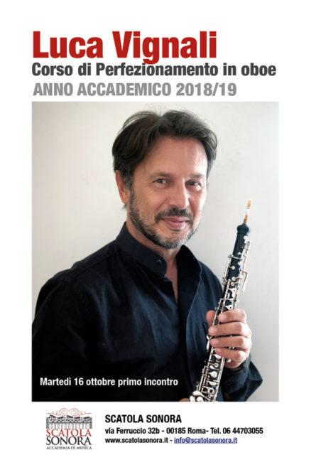 LUCA VIGNALI – CORSO DI PERFEZIONAMENTO IN OBOE – 2018/19
