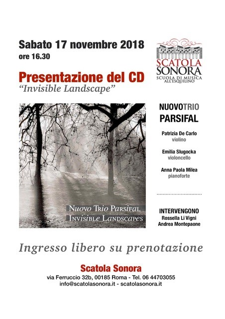 "Presentazione del CD ""Invisible Landscape"""