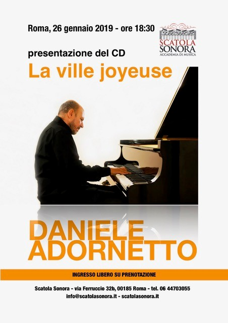 Presentazione del CD – La ville joyeuse