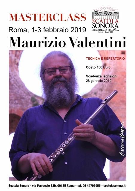MAURIZIO VALENTINI – MASTERCLASS – 1-3 febbraio 2019