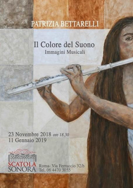 """MOSTRA """"Il Colore del Suono"""" di PATRIZIA BETTARELLI inaugurazione 23 novembre 2018"""