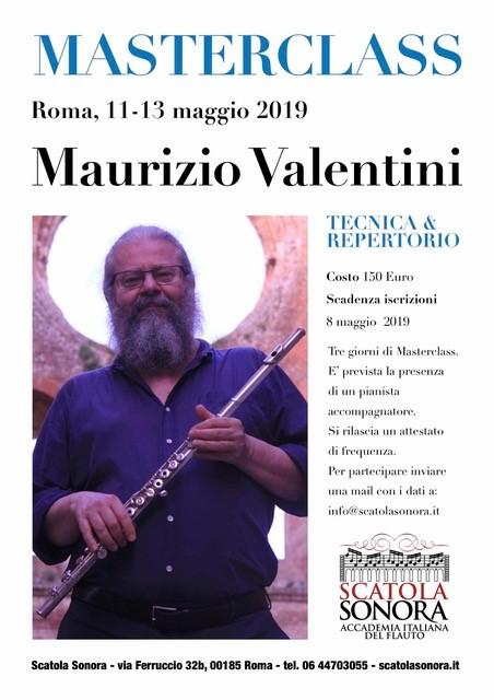MASTERCLASS MAURIZIO VALENTINI 11-13 Maggio