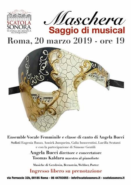 Maschera – Saggio di Musical – 20 marzo – Ingresso gratuito