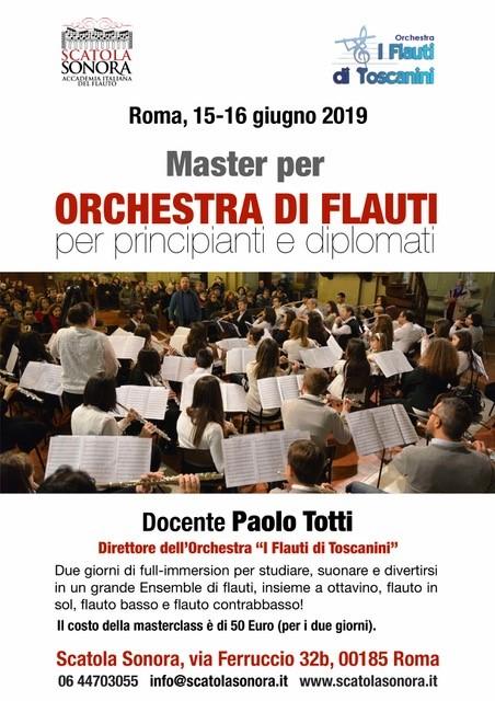 Master per Orchestra di Flauti per principianti e diplomati – 15/16 giugno