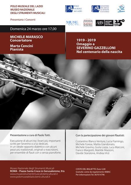Omaggio a Severino Gazzelloni – 24 marzo – Museo Nazionale degli Strumenti Musicali