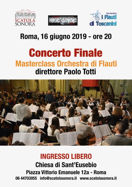Concerto finale – 16 giugno 2019 – Masterclass Orchestra di Flauti, direttore Paolo Totti