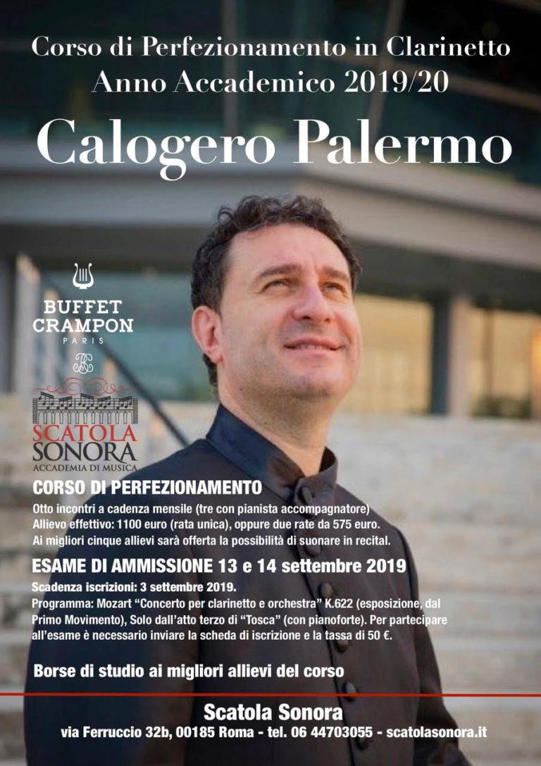 Corso di perfezionamento in Clarinetto – Calogero Palermo – 2019/20