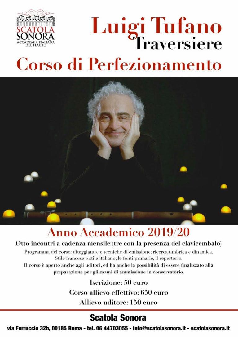 Corso di perfezionamento in Traversiere – Luigi Tufano – 2019/20