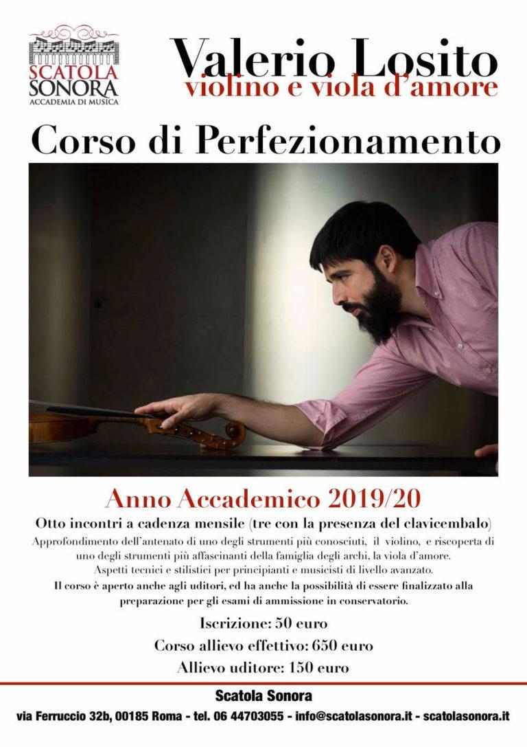 Corso di perfezionamento in Violino e Viola d'amore – Valerio Losito – 2019/20