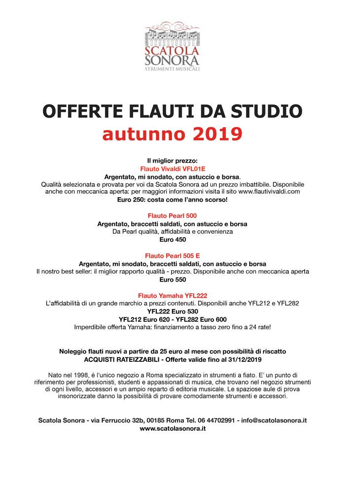 OFFERTE FLAUTI DA STUDIO 2019