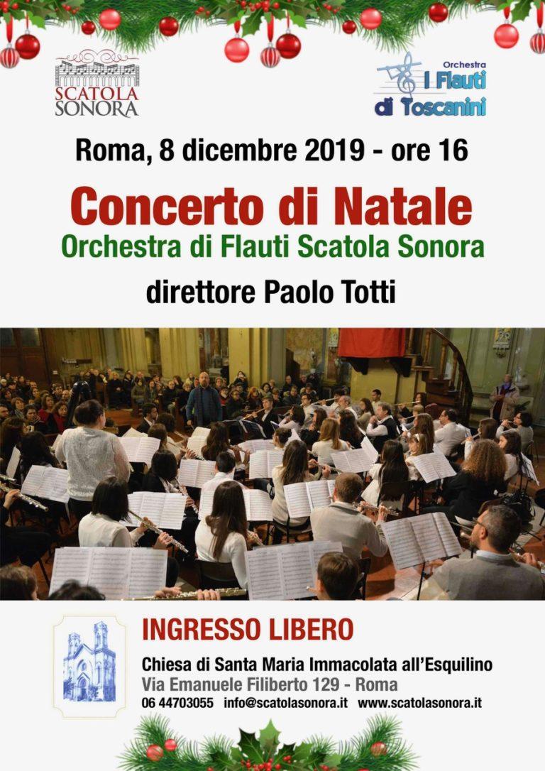 CONCERTO DI NATALE Orchestra di Flauti Scatola Sonora, 8 dicembre 2019