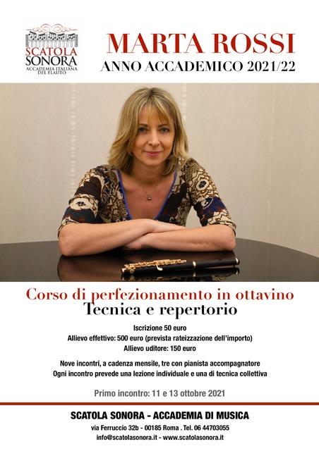 Read more about the article Corso di perfezionamento 2021/22 – Marta Rossi / ottavino