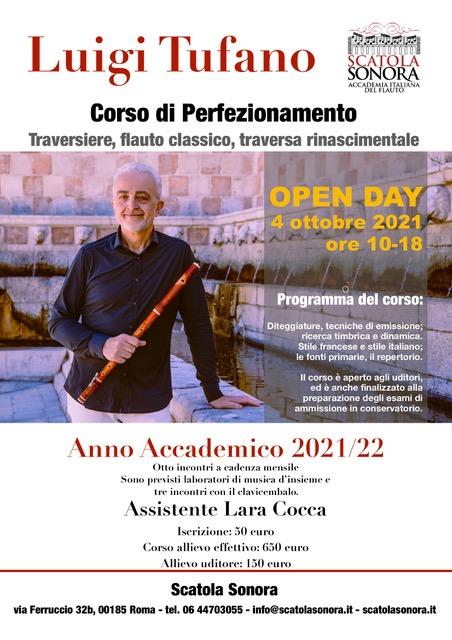 Read more about the article Corso di perfezionamento 2021/22 – Luigi Tufano / traversiere, flauto classico, traversa rinascimentale