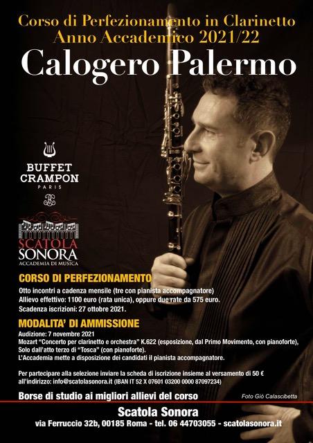 Read more about the article Calogero Palermo – Corso di Perfezionamento in Clarinetto 2021/22